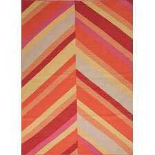 Maroc Red/Orange Stripe Rug