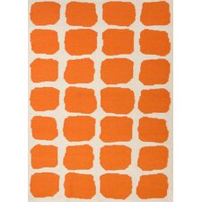 Maroc Red/Orange Abstract Rug