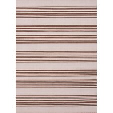 Pura Vida White Ice/Cocoa Brown Stripe Rug