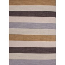 Pura Vida Beige/Brown Stripe Area Rug
