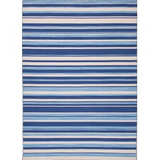 Pura Vida Navy Blue Stripe Rug