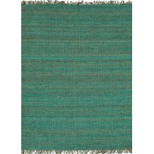 Rugged Blue Solid Rug