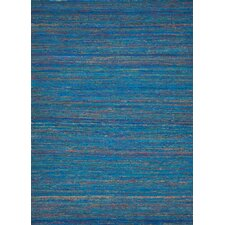 Spice Blue Solid Rug