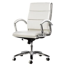 Neratoli Mid-Back Slim Profile Office Chair with Arms