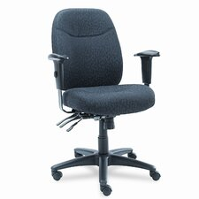 Wrigley Series High-Back Multifunction Chair with Gray Upholstery