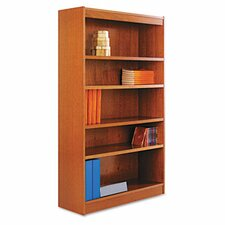 Five-Shelve Square Corner Bookcase