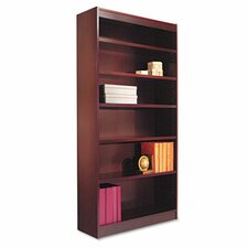 Six-Shelve Square Corner Bookcase
