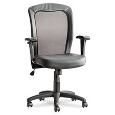 <strong>Alera®</strong> Easton Series Mid-Back Leather Swivel / Tilt Office Chair