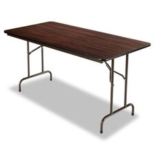 "60"" Folding Table in Walnut"