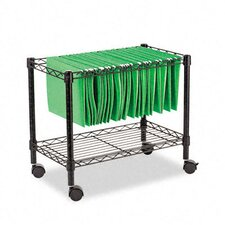 "Single-Tier 21"" H x 24"" W Rolling File Cart"