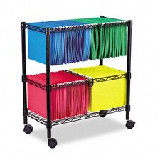 "Two-Tier 28"" Rolling File Cart"