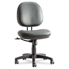 Interval Series High-Performance Swivel/Tilt Task Chair, Black Leather