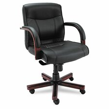 Madaris Mid-Back Leather Executive Chair