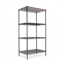 "Industrial Wire 72"" H 3 Shelf Shelving Unit Starter"