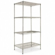 "Four-shelf 36"" W x 24"" D Industrial Wire Shelving Starter Kit"