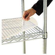"<strong>Alera®</strong> 36"" W x 18"" D Shelf Liners for Wire Shelving in Clear Plastic"