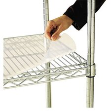 "<strong>Alera®</strong> 48"" W x 18"" D Shelf Liners for Wire Shelving in Clear Plastic"