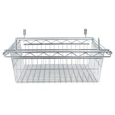 "18"" Sliding Wire Basket for Wire Shelving in Silver"