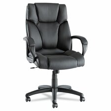Fraze High-Back Swivel/Tilt Chair in Black Leather