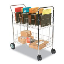 <strong>Alera®</strong> Wire Mail Cart in Chrome