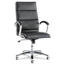 High-Back Soft-Touch Leather Neratoli Slim Profile Office Chair