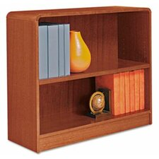 Radius Corner Bookcase, Finished Back, Wood Veneer, 2-Shelf, 36x12x30, Cherry