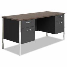 Computer Desk with Double Pedestal