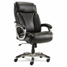 <strong>Alera®</strong> Veon Series High-Back Leather Executive Chair with Coil Spring Cushioning