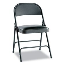 Steel Folding Chair with Padded Seat (Set of 4)