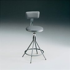 Height Adjustable Swivel Stool with Backrest