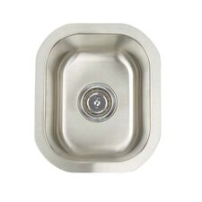 "Premium Series 12.5"" x 14.75"" Undermount Single Bowl Bar Sink"