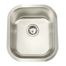"Premium Series 15.5"" x 17.75"" Undermount Single Bowl Bar Sink"