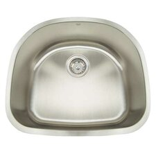 "Premium Series 23.5"" x 21"" Undermount Single Bowl Kitchen Sink"