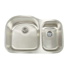 "Manhattan 31.13"" x 20.5"" Double Bowl Undermount Kitchen Sink"