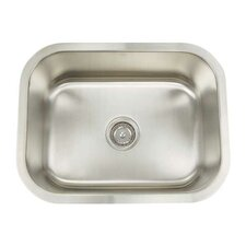 "Manhattan 23.13"" x 18"" Rectangular Single Bowl Undermount Bar Sink"