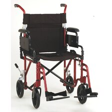 "GO! Mobility Comet 19"" Lightweight Transport Wheelchair with Removable Desk Arms"