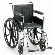Wheelchair with Fix Arm and Swing Away Footrest