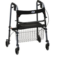 "<strong>Nova Ortho-Med, Inc.</strong> ""Cruiser De-light"" Folding Walker in Blue (Single Box with Basket)"