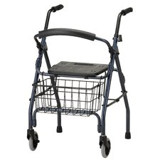 <strong>Nova Ortho-Med, Inc.</strong> Cruiser II Walker with Detachable Flip Back in Blue