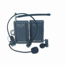 Wireless Lapel Microphone Kit, Two Frequencies, 300 ft. Range