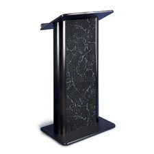 Pyrenees Marble Lectern with Black Anodized Aluminum