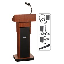 <strong>AmpliVox Sound Systems</strong> Executive Sound Column Lectern