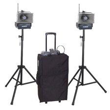 <strong>AmpliVox Sound Systems</strong> Deluxe Half-Mile Hailer Kit with Wireless Powered Speakers