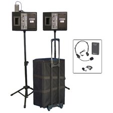 <strong>AmpliVox Sound Systems</strong> Wireless Powered Speaker Voice Projector Kit