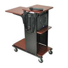 "<strong>AmpliVox Sound Systems</strong> 34.5"" Mobile Presentation Station in Black"
