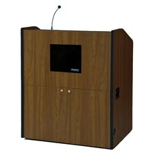 "<strong>AmpliVox Sound Systems</strong> Typr30"" Multimedia Smart Podium"