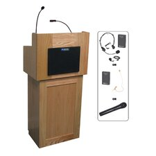 <strong>AmpliVox Sound Systems</strong> 2-Piece Wireless Oxford Lectern