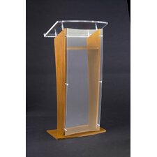 <strong>AmpliVox Sound Systems</strong> Acrylic Panel Lectern
