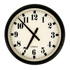 "11.9"" Round Large Stylized Numbers Kitchen Office Wall Hanging Clock"