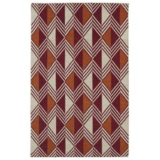 Nomad Red Geometric Rug